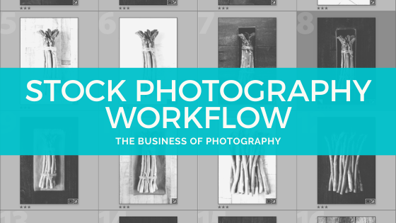 stock photography workflow