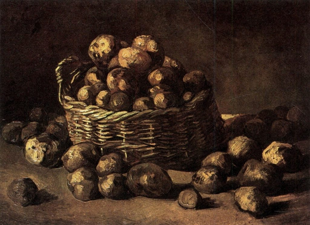 basket of potatoes vincent van gogh
